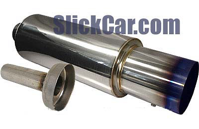 RS Type Stainless Steel Muffler with Titanium Tip