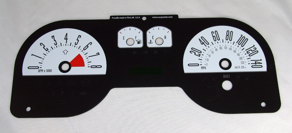 Ford Mustang 2005-2009 Gt White Performance Dash Gauges