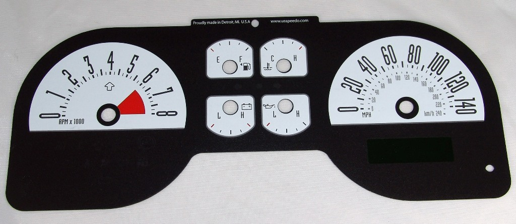 Ford Mustang 2005-2009 Gt White / My Color Performance Dash Gauges