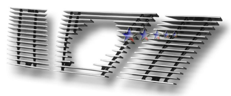 Nissan Xterra  2005-2008 Polished Main Upper Aluminum Billet Grille