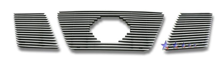 Nissan Frontier  2005-2008 Polished Main Upper Aluminum Billet Grille