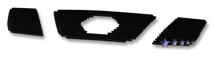Nissan Frontier  2005-2008 Black Powder Coated Main Upper Black Aluminum Billet Grille