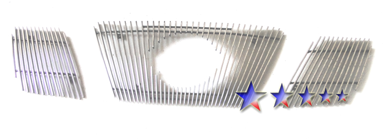 Nissan Frontier  2005-2008 Polished Main Upper Aluminum Billet Grille