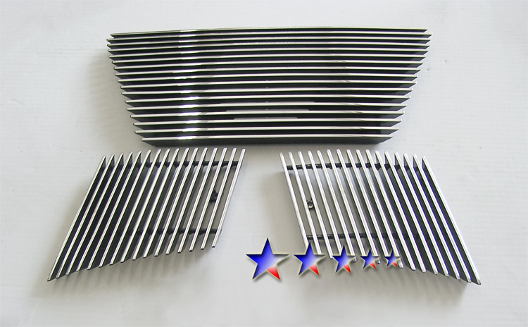 Nissan Pathfinder  2005-2007 Polished Main Upper Aluminum Billet Grille