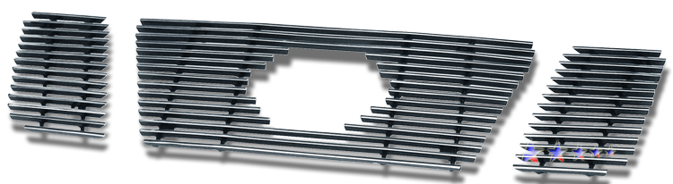 Nissan Titan  2008-2012 Polished Main Upper Stainless Steel Billet Grille