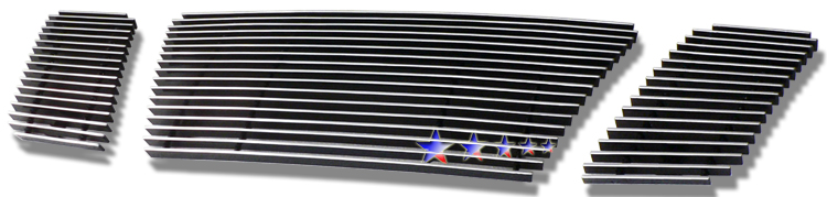 Nissan Titan  2008-2012 Polished Main Upper Aluminum Billet Grille