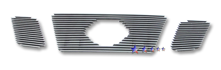 Nissan Frontier  2009-2012 Polished Main Upper Aluminum Billet Grille