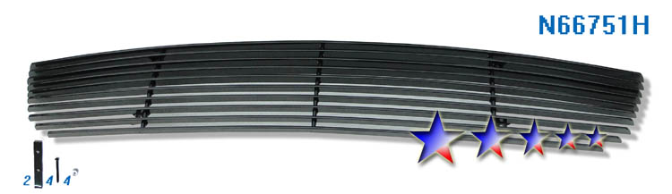 Nissan Altima  2010-2012 Black Powder Coated Lower Bumper Black Aluminum Billet Grille