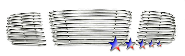 Nissan Titan  2004-2007 Polished Main Upper Tubular Grille