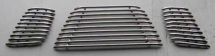 Nissan Frontier  2005-2007 Polished Main Upper Tubular Grille