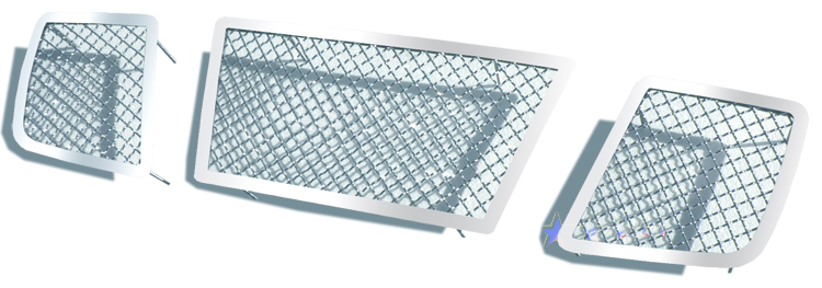 Nissan Titan  2004-2007 Chrome Main Upper Mesh Grille