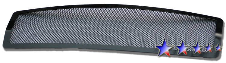 Infiniti Qx56  2004-2010 Black Powder Coated Main Upper Black Wire Mesh Grille