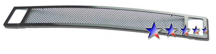 Infiniti Qx56  2004-2010 Black Powder Coated Lower Bumper Black Wire Mesh Grille