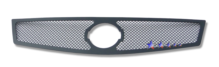 Nissan Sentra Se-R 2007-2010 Black Powder Coated Main Upper Black Wire Mesh Grille