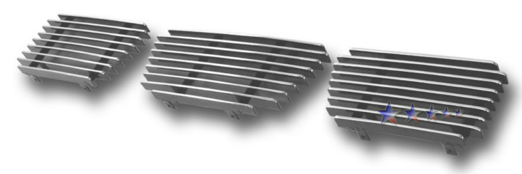 Nissan Nissan Pickup  1995-1997 Polished Main Upper Aluminum Billet Grille