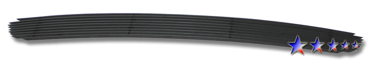 Nissan Altima  2002-2004 Black Powder Coated Lower Bumper Black Aluminum Billet Grille