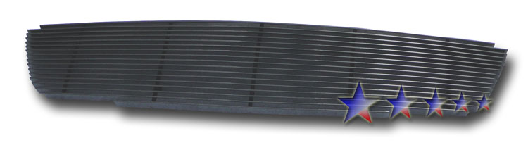 Nissan Altima  2005-2006 Black Powder Coated Main Upper Black Aluminum Billet Grille