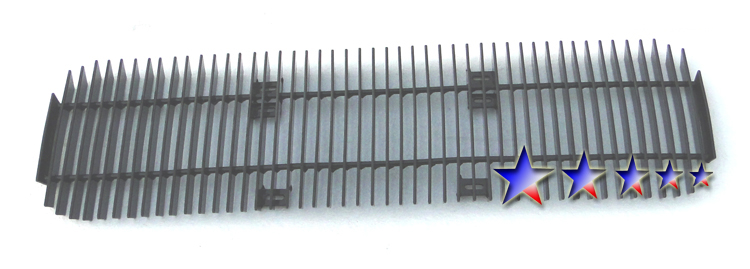 Nissan Titan  2004-2012 Black Powder Coated Lower Bumper Black Aluminum Billet Grille
