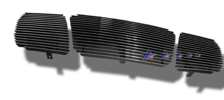 Nissan Titan  2004-2007 Polished Main Upper Aluminum Billet Grille