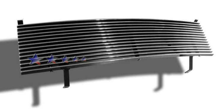 Nissan Frontier  1998-2000 Polished Main Upper Aluminum Billet Grille