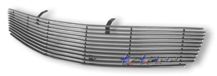 Infiniti G35  2003-2004 Polished Main Upper Aluminum Billet Grille