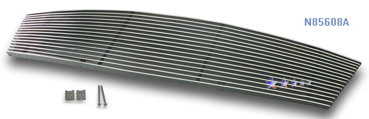 Infiniti M35  2005-2007 Polished Main Upper Aluminum Billet Grille