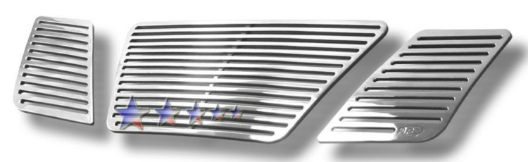 Nissan Frontier  2005-2008 Polished Main Upper Perimeter Grille