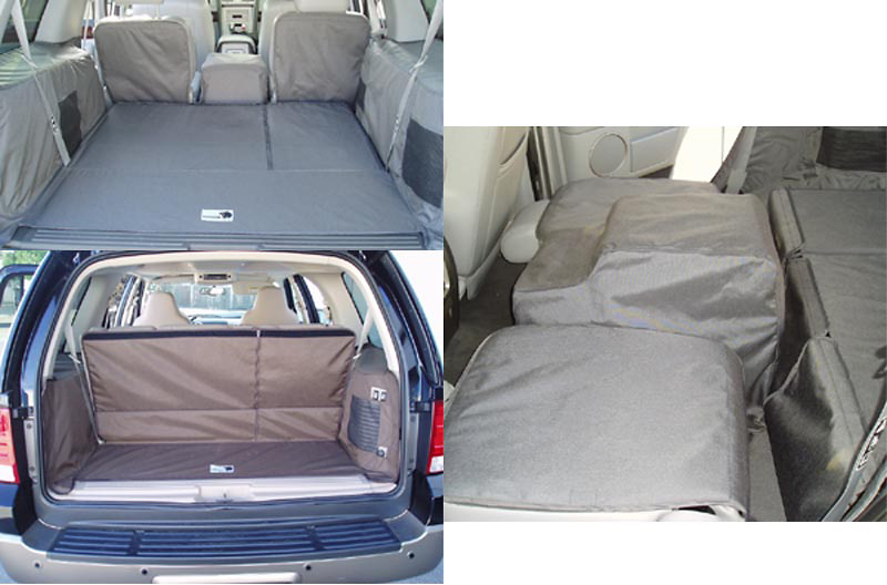Lincoln Navigator 03-05 Cargo Liner, models w/ Liftgate, Rear A/C, Rear Speaker, 40/20/40 2nd Row Bench, 3rd Row