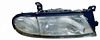 Nissan Altima 93-97 Passenger Side Replacement Headlight and Corner Light Combo (with Rectangular Socket)
