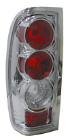 2002 Nissan Frontier  Chrome Euro Tail Lights