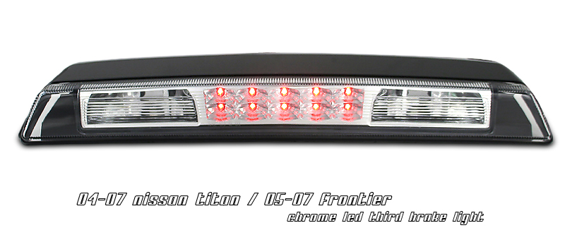 Nissan Frontier 2005-2007 Chrome Housing LED 3rd Brake Light