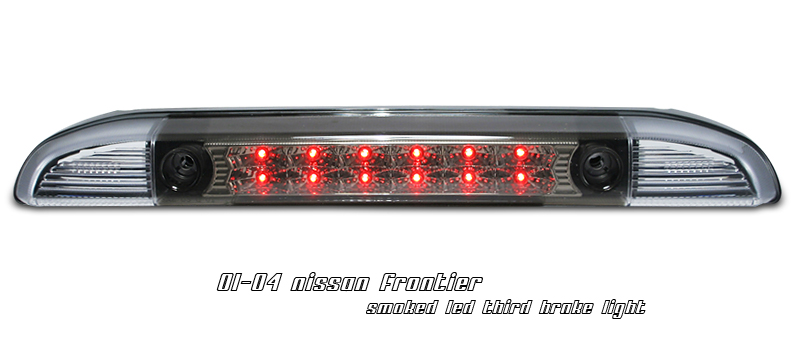 Nissan Frontier 2001-2004 Chrome Housing, Smoked Lens LED 3rd Brake Light