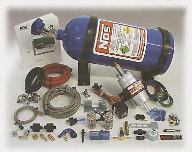 NOS Wet System - Fogger-Solenoids-Lines-10 lbs Bottle Empty