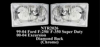 Ford F Series Super Duty 99-04 Diamond Back Headlights