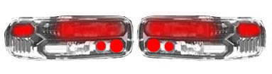 Chevrolet Caprice 91-96 Chrome Euro Tail Lights with Smoked Lens