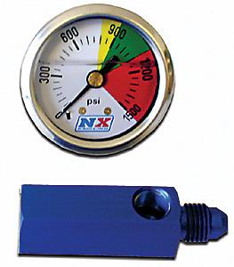 Nitrous Express N2O Flo-Thru Pressure Gauge (0-1500PSI)