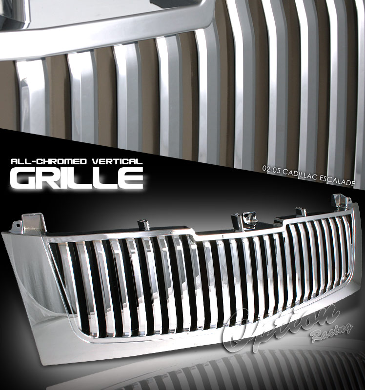 Cadillac Escalade 2002-2005 Vertical Style Chrome Grill