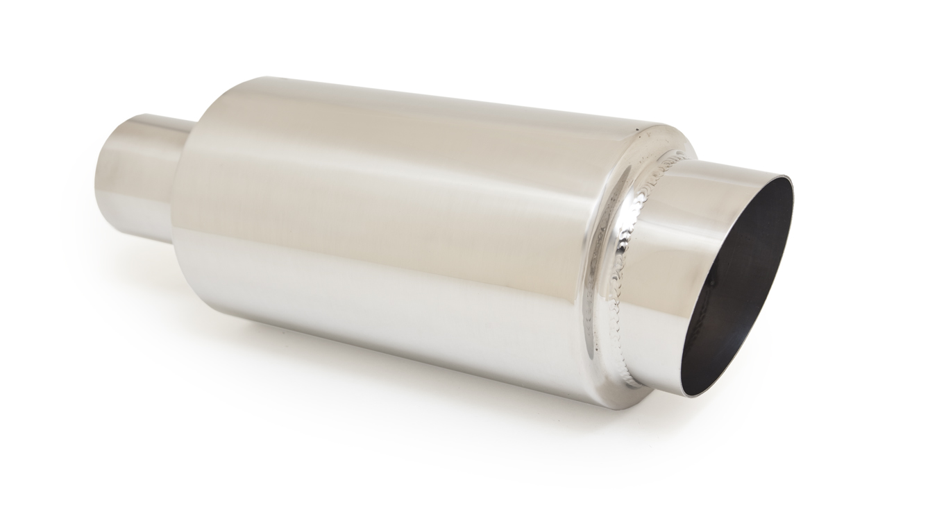 Ractive Round Muffler with 3.5 in. Slant Cut Tip