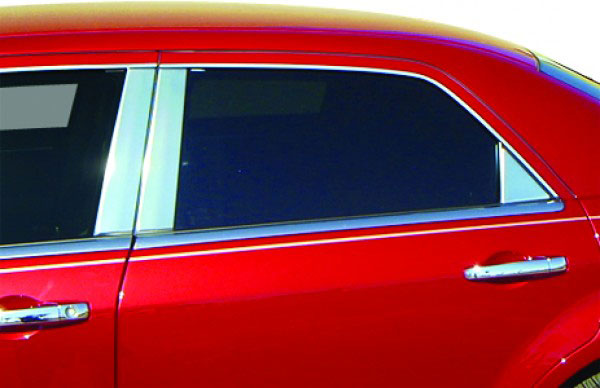 Chrysler Sebring Sedan  2007-2010, (6 Piece) Chrome Pillar Covers