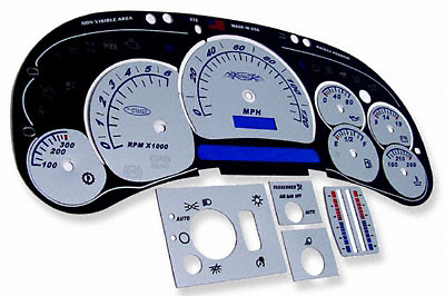 Chevrolet Avalanche 03-06 Platinum Face Gauges