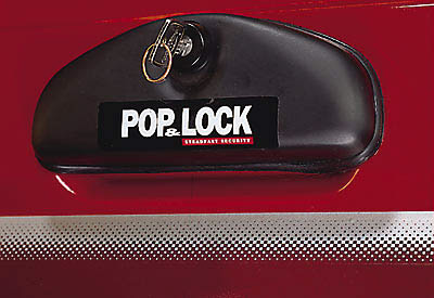 Pop & Lock Chrome Tailgate Lock Dodge Ram Fullsize 02-03
