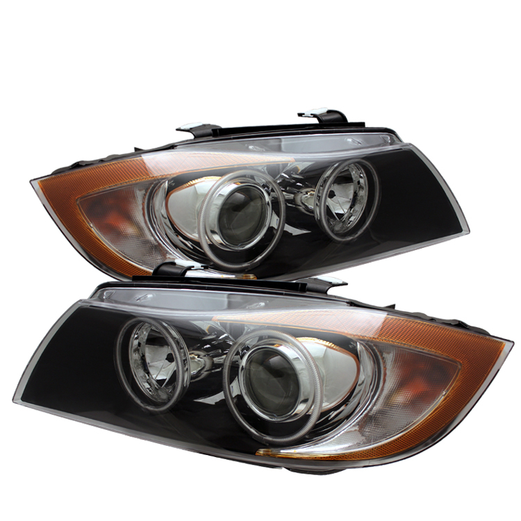 Bmw 3 Series 2006-2008 4DR Black Projector Headlights