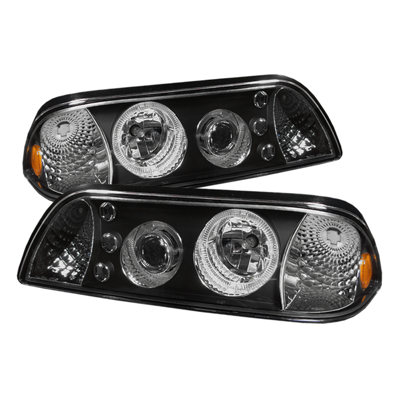Ford Mustang  1987-1993 LED 1pc Projector Headlights  - Black