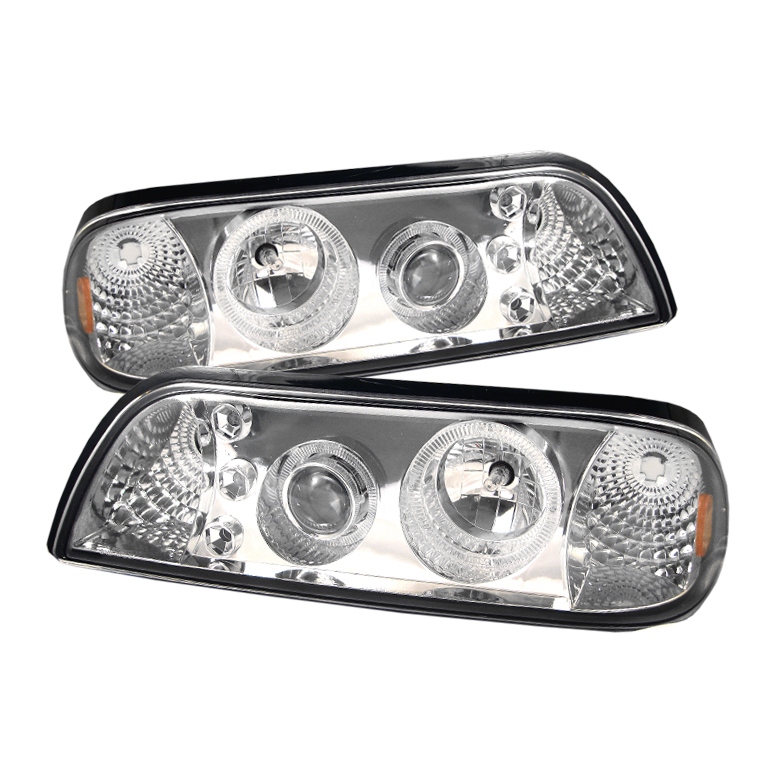 Ford Mustang  1987-1993 LED 1pc Projector Headlights  - Chrome