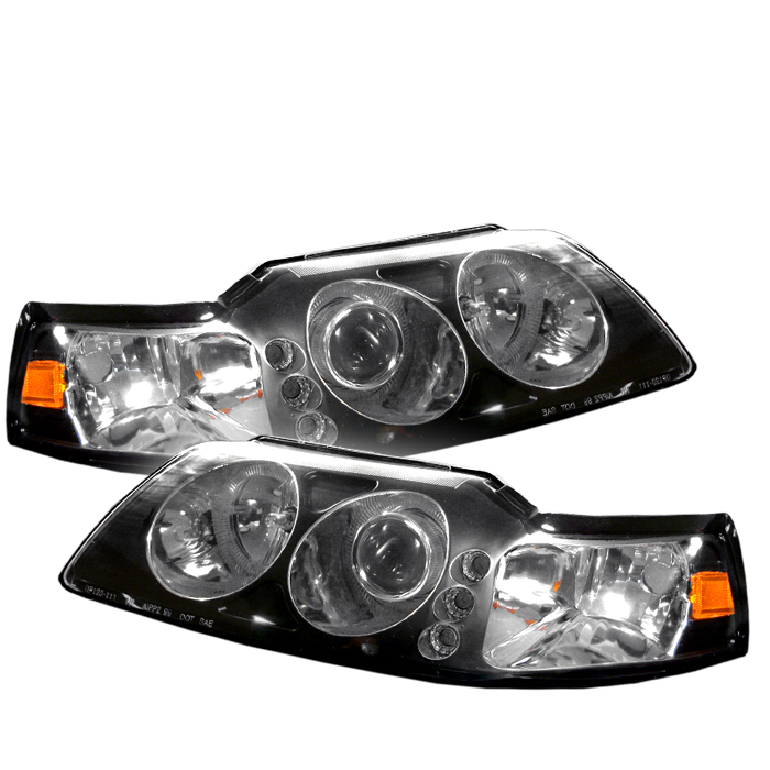 Ford Mustang  1999-2004 LED 1pc Projector Headlights  - Black