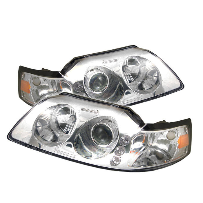 Ford Mustang  1999-2004 LED 1pc Projector Headlights  - Chrome