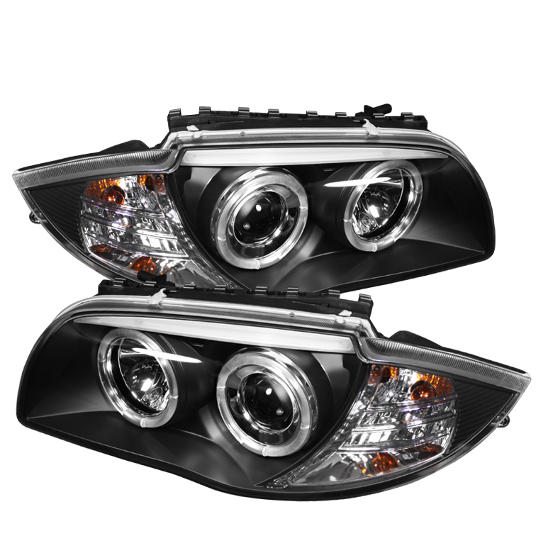 Bmw 1 Series 2008-2010  Black  Halo Projector Headlights