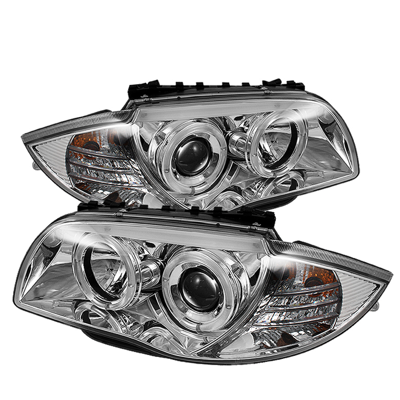 Bmw 1 Series 2008-2010  Chrome  Halo Projector Headlights
