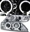 Bmw Z3 1996-2002  Chrome W/ Halo Projector Headlights