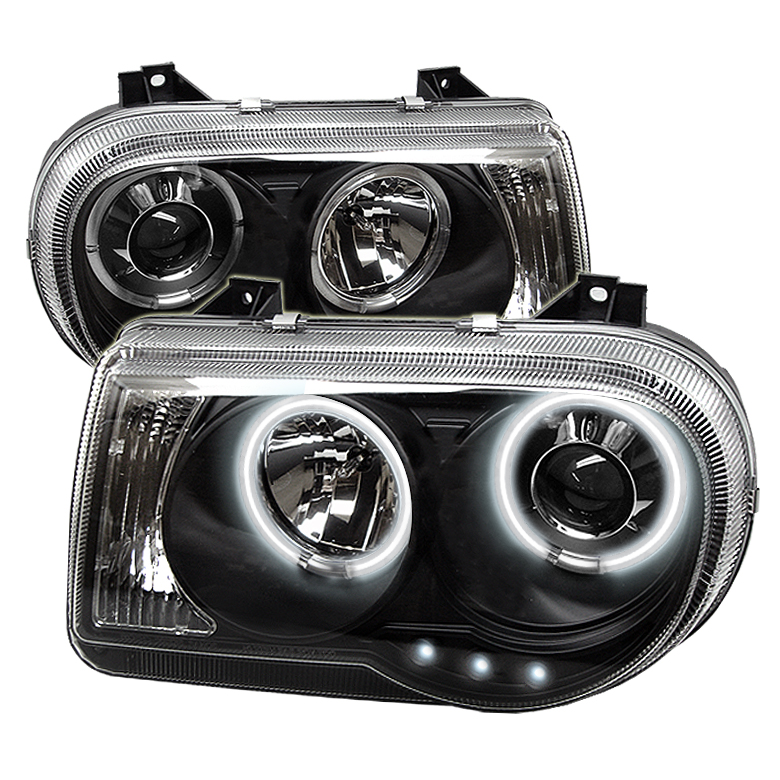 Chrysler 300C  2005-2010 Ccfl LED Projector Headlights  - Black